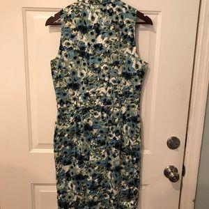 Printed Sleeveless Button Up Dress
